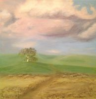 Oak Tree Sunrise by Lisha Vidler by Yesterdays-Thimble