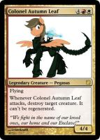 Colonel Autumn Leaf Magic Card by UWoodward