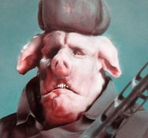 COMRADE PIG - cropped by Shapula