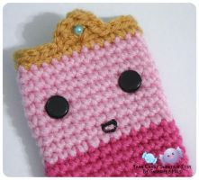 Princess Bubblegum Cell Phone Cozy 1 by moofestgirl