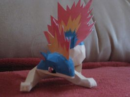 Quilava Papercraft by the-Adventurer-0815