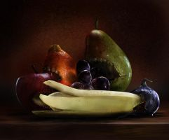 Self ingesting still life by 8025glome