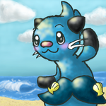 Dewott on the Beach by DewYunomi