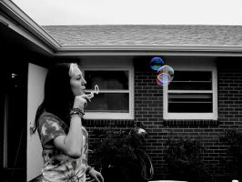 bubbles and the grey day by heartset