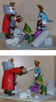 The Wind Waker figurines: the King and the Sages by Skull-the-Kid