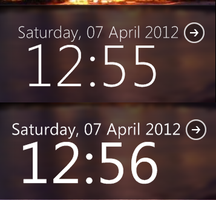 SegoeClock for Rainmeter by MossyDev