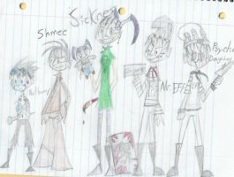 JTHM characters humanised by Genaleah
