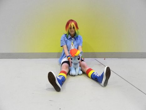 Lost the game? ~Rainbow Dash Cosplay~ by EeveeNyappy