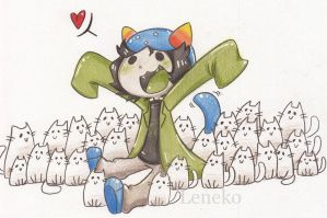 Nepeta with 28 cats by leneko