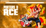One Piece Chrome Theme: Portgas D Ace (Revised) by yohohotralala