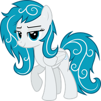 Coastal Tides (an OC Pony)   Closed Wing by Mortris