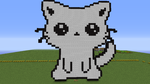 Minecraft Pixels - Cat by 13iyondo