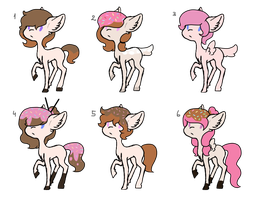 ??? x Marshamallow foals (OPEN) by Rainbows-Lover