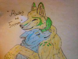 Always and Forever [colored] by The-Lovestruck-Fox
