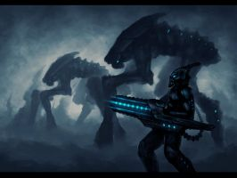 Alien Attack by blackbird-art