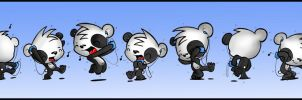 DANCING PANDA by podgypanda