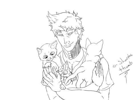 aron with kittens wip by spade-of-aces