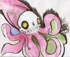 SQUID skull by lucariotails95