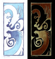 Two dragons, two variants by LiLaiRa