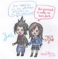 Zack and Tifa After School by cleris4ever