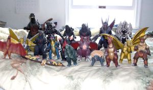 Godzilla toy collection by Ravenfire5