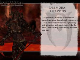 Dagon's Creatures: Dremora Amazon by jag1221
