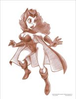 Scarlet Witch Pencils by ArtofLaurieB