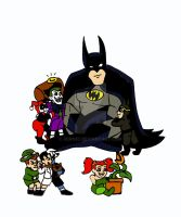 Batman, the babysitter :P by xero87