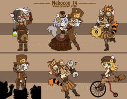 Nekocon 14 Mascots by algy