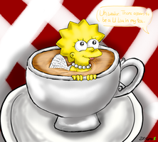 Lil Lisa In My Tea by cyngawolf
