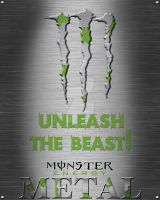 Monster Energy Metal Poster - FAKE by MattShadoinDesign