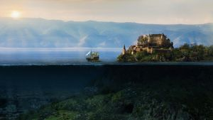 Water And Mountains by RibayWall