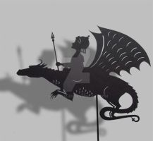 Dragon Rider - Shadow Puppet by PaperTales