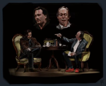 Johnny Depp and Lawrence Krauss tribute by deerbard