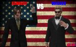 Kennedy Vs Wesker for President by CharonA101
