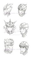 Concept headshots by CuriousCucumber