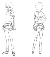 Bleach clothes design:Rukia by rukia-shinigami