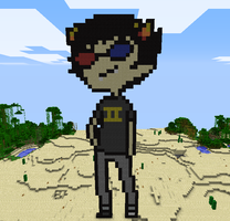 Sollux in Minecraft by T-2-da-Rouble