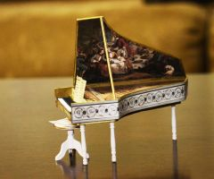 Miniature Harpsichord by SRKminiature