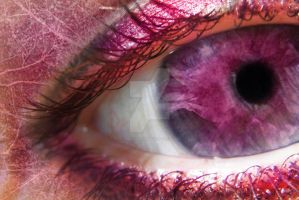 Pink eye by Lina-Garzon