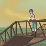 Meina on the bridge by alicezap