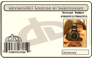 My License to DeviantART by Jessawary