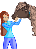 Girl And Horse by RavenVillanuevaT2P