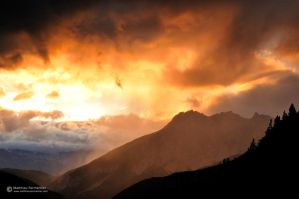 Rainy alpine sunset by matthieu-parmentier
