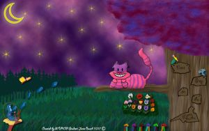 Cheshire Cat Doodle by Rose279