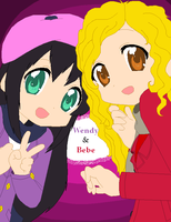 An old pic of Wendy and Bebe by Harmony-Borealis