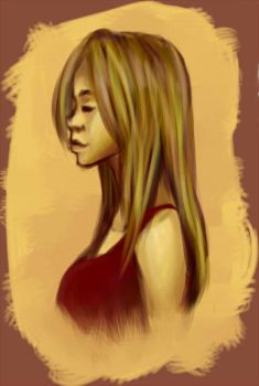 Sketched Girl by DshawnC