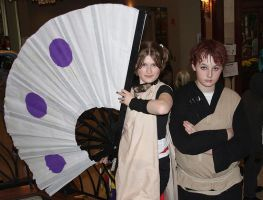 Temari  and Gaara at Kawa Kon by Sappheirous