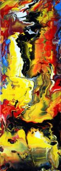 Abstract Fluid Painting 3 by Mark-Chadwick