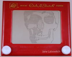Skull WIP etch a sketch by pikajane